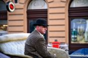 Travel photography:Budapest Fiaker driver , Hungary
