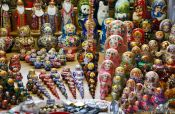 Travel photography:Budapest market matryoshkas , Hungary