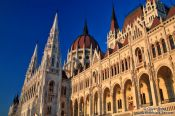 Travel photography:Budapest parliament at sunset, Hungary