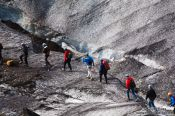 Travel photography:Exploring the glacier of Svinafellsjökull, Iceland