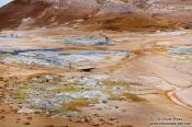 Travel photography:Geothermal field at Hverarönd with fumaroles and mud pools, Iceland