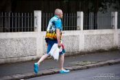Travel photography:Reykjavik man in summer clothes, Iceland