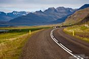 Travel photography:Road near Berufjörður, Iceland