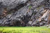 Travel photography:Basalt formations near Djúpivogur, Iceland