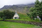 Travel photography:Hofskirkja church in Hof, Iceland