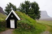 Travel photography:Old peat church at Nupsstadur, Iceland