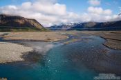Travel photography:Fluvial plain near Vagnsstadir, Iceland