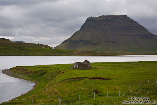 Snæfellsnes landscape with abandoned house
