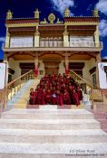 Travel photography:Buddhist monk novices outside their Chosling school, India