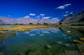 Travel photography:Mountain lake near Diskit, India