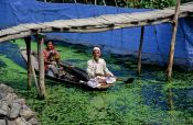 Travel photography:People on Dal Lake, Srinagar, India