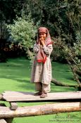 Travel photography:Girl on Dal Lake near Srinagar (Kashmir), India