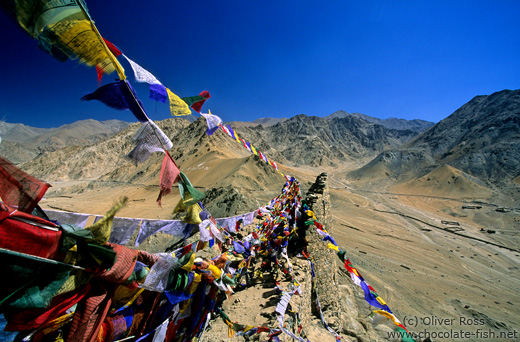 Buddhist prayer flags in Leh