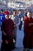 Travel photography:Buddhist monks after a polo match in Leh, India