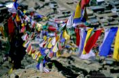 Travel photography:Prayer flags over Leh, India