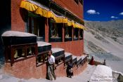 Travel photography:Thiskey Gompa prayer wheels, India