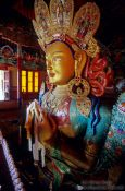Travel photography:Statue inside the Thiksey Gompa, India