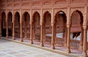 Travel photography:Arches at Junagarh Fort in Bikaner, India