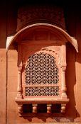 Travel photography:Stone window in the Junagarh Fort in Bikaner, India