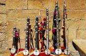 Travel photography:Musical instruments in Jaisalmer, India