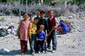 Travel photography:Children near Panamik (Nubra Valley), India