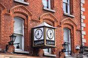 Travel photography:Guinness clock in Dublin , Ireland