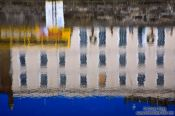 Travel photography:Reflection in the river Liffey in Dublin , Ireland