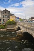 Travel photography:Bridge across the Corrib river in Galway , Ireland