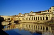 Travel photography:The Ponte Vecchio across the Arno River in Florence, Italy