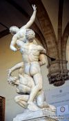 Travel photography:Sculpture depicting the theft of the Sabines in Florence, Italy