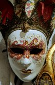 Travel photography:Venice carnival mask, Italy