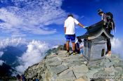 Travel photography:Shrine at 3200m in the Japanese Alps near Kamikochi, Japan