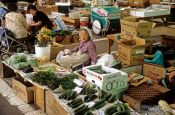 Travel photography:Food market in Hakodate on Hokkaido, Japan
