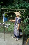 Travel photography:Painter in Kamakura, Japan