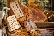 Travel photography:Dried squid for sale the Tokyo Tsukiji fish market, Japan