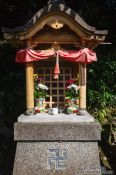 Travel photography:Roadside shrine in Kyoto, Japan