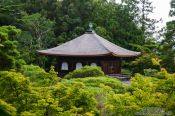 Travel photography:Kyoto Ginkakuji Temple roof, Japan