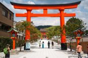 Travel photography:Entrance gate to Kyoto`s Inari shrine, Japan