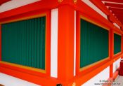 Travel photography:Facade detail at Kyoto`s Inari shrine, Japan