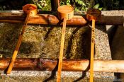 Travel photography:Water basin at Kyoto`s Inari shrine, Japan