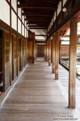 Travel photography:Wooden walkway outside the Shinden at Kyoto´s Ninnaji temple, Japan