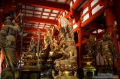 Travel photography:Collection of Buddha statues at Kyoto´s Toji temple, Japan