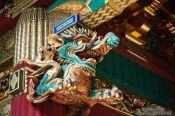 Travel photography:Roof detail at the Nikko Unesco World Heritage site, Japan
