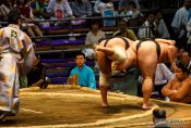 Travel photography:Sumo action at the Nagoya Sumo Tournament, Japan