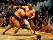 Travel photography:Bout at the Nagoya Sumo Tournament, Japan