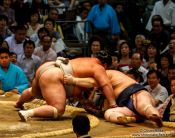 Travel photography:End of a bout at the Nagoya Sumo Tournament, Japan