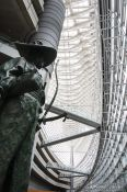 Travel photography:Samurai sculpture inside the Tokyo International Forum, Japan