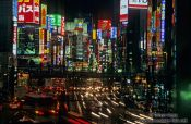 Travel photography:Busy street in Tokyo`s Shinjuku district, Japan