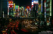 Travel photography:Traffic in Tokyo`s Shinjuku district, Japan