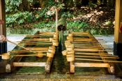 Travel photography:Water basin at Tokyo´s Meiji shrine, Japan